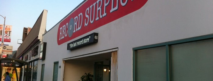 Record Surplus is one of SoCal Shops, Art, Attractions.