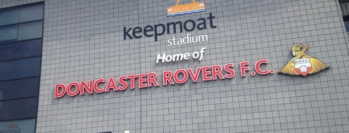 Keepmoat Stadium is one of Football grounds visited.