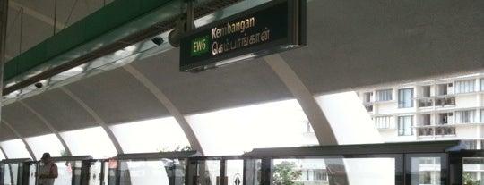 Kembangan MRT Station (EW6) is one of MRT: East West Line.