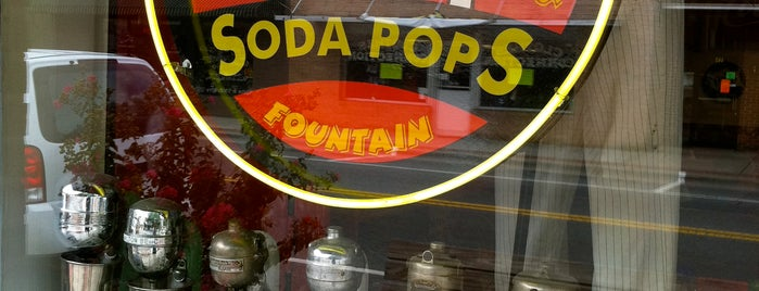 Soda Pops Ice Cream Shop is one of Asheville.