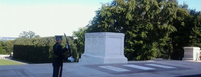 Tomb of the Unknowns is one of Places that are checked off my Bucket List!.