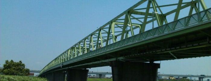 木根川橋 is one of サイクリング.