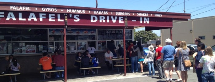 Falafel's Drive-In is one of Olly Checks In San Jose.