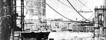John A Roebling Suspension Bridge is one of Surviving Historic Buildings in Cincinnati.
