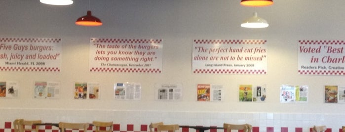 Five Guys is one of Favorite Places.