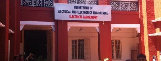 Department Of Electrical Engineering is one of Anna university.