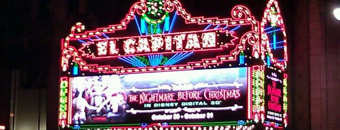 El Capitan Theatre is one of Places to Watch Movies.