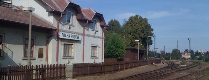 Železniční stanice Praha-Ruzyně is one of Železniční stanice ČR: P (9/14).