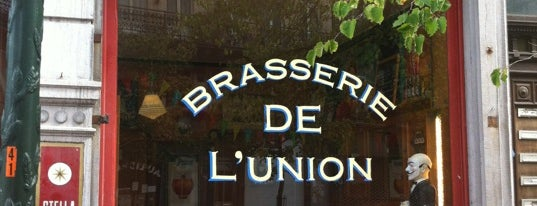Brasserie de l'Union is one of Authentic pubs in Brussels. No hipsters!.