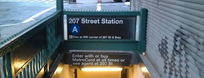 """MTA Subway - Inwood/207th St (A) is one of """"Be Robin Hood #121212 Concert"""" @ New York!."""