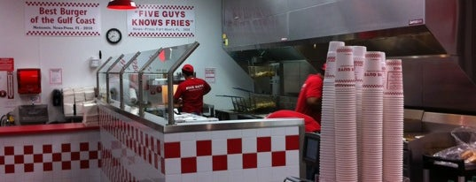 Five Guys is one of Tampa Bay.