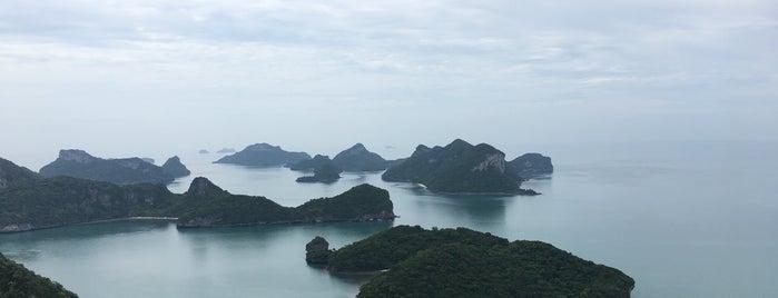 Angthong Islands National Marine Park is one of koh samui.