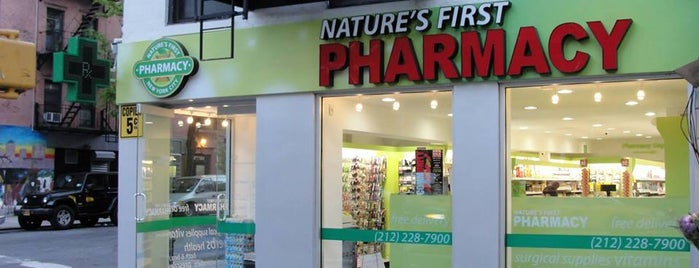 Nature's First Pharmacy is one of A list of spots.