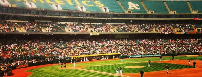 Oakland-Alameda County Coliseum is one of MLB parks.