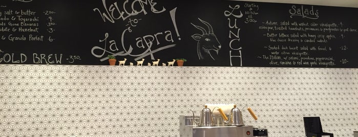 La Capra Coffee is one of For the Love of Caffeine.