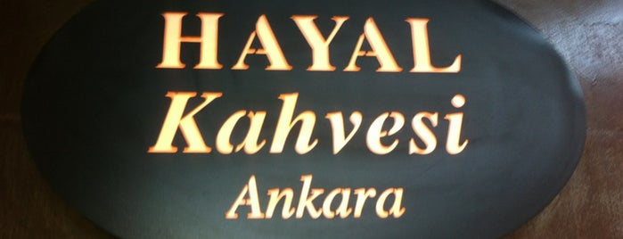 Hayal Kahvesi Ankara is one of my favorites.