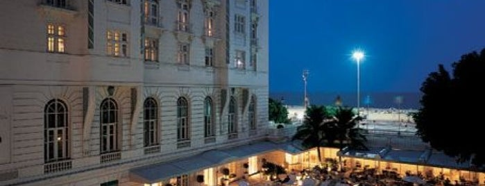 Belmond Copacabana Palace is one of Summer South of the Equator.