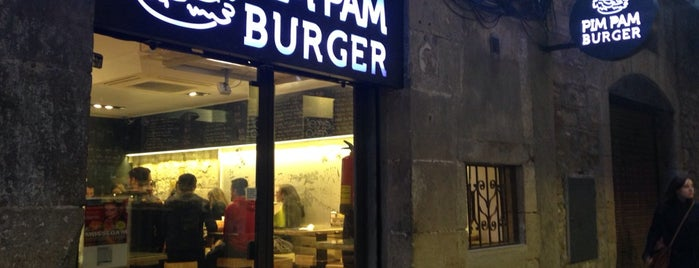 Pim Pam Burger is one of Cheap Eats Barcelona 5-10€.