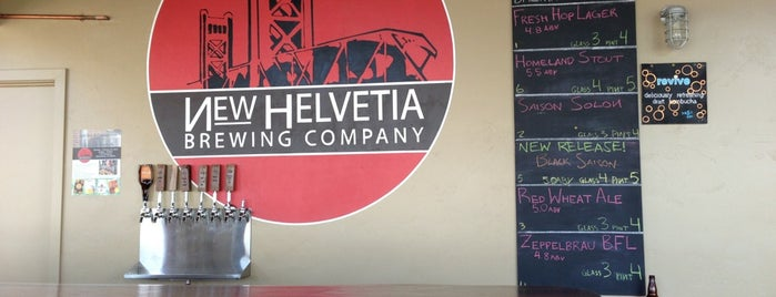 New Helvetia Brewing Co. is one of Sacramento Bee recommendations.