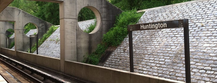 Huntington Metro Station is one of frequent check ins.