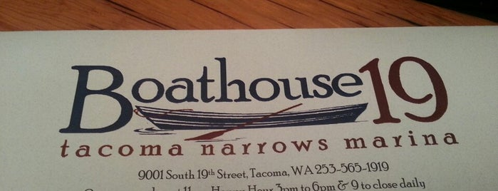 Boathouse 19 at the Narrows is one of Where to eat in Tacoma.