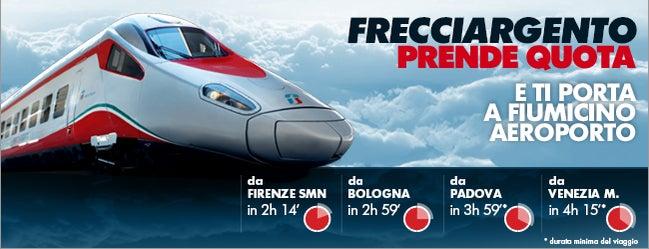 Aeroporto di Roma Fiumicino (FCO) is one of A Roma...con Le Frecce.