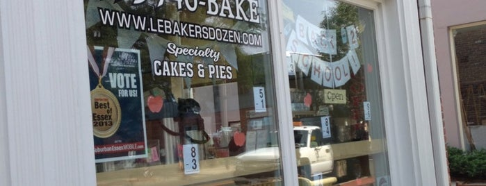 Le Bakers Dozen is one of places to go around montclair.