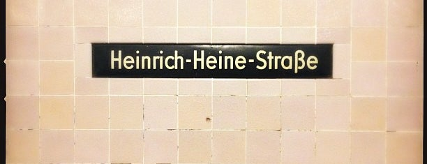 U Heinrich-Heine-Straße is one of Besuchte Berliner Bahnhöfe.