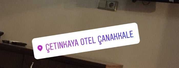 Cetinkaya Hotel is one of Canakkale.