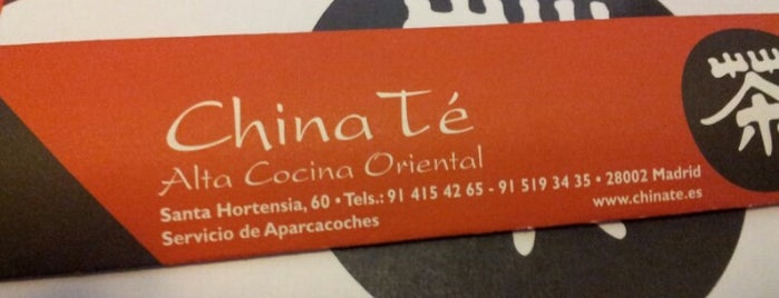 China Té is one of Comer en Madrid.