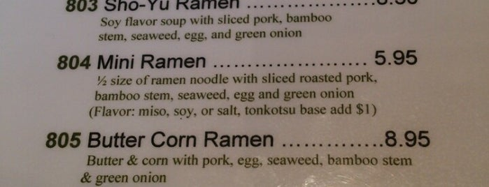 Ramen Taro is one of Obsessed w Ramen.