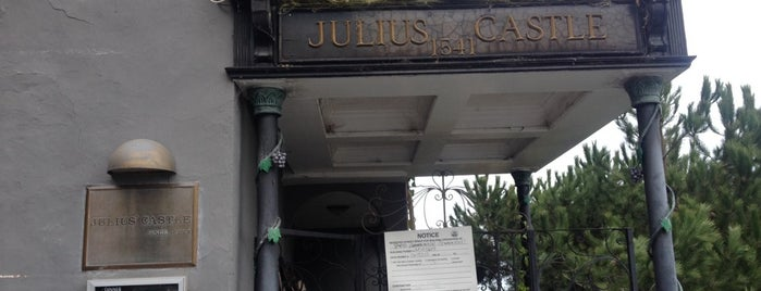 Julius' Castle is one of Favorite dinner spots on the Barbary Coast.