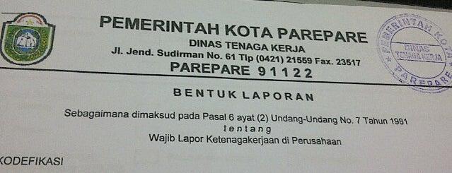 Dinas Tenaga Kerja Kota Parepare is one of SKPD di Parepare.