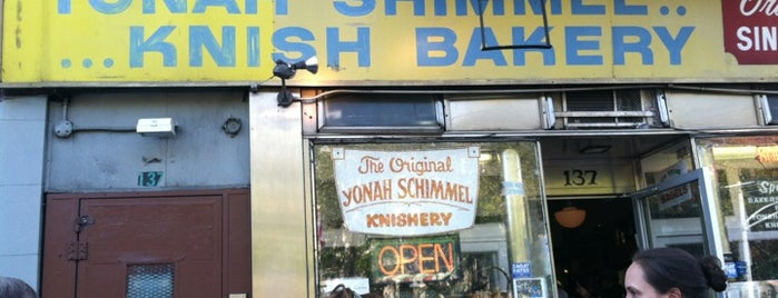 Yonah Schimmel Knish Bakery is one of New York.