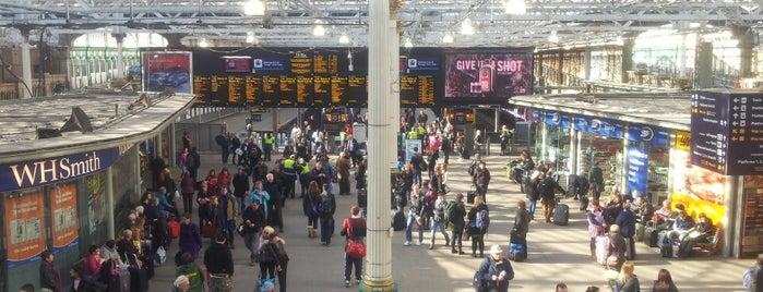 Edinburgh Waverley Railway Station (EDB) is one of Edinburgh.