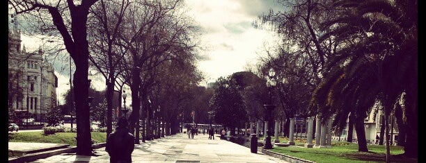 Paseo de Recoletos is one of Madrid.