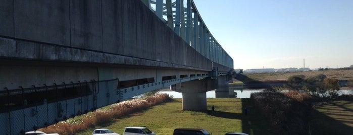 つくばエクスプレス 江戸川橋梁 is one of 千葉県と隣県を繋ぐ鉄道橋.