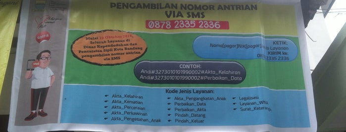 Dinas Kependudukan dan Pencatatan Sipil (DisDukCaPil) Kota Bandung is one of Kantor Pemerintah Kota Bandung.