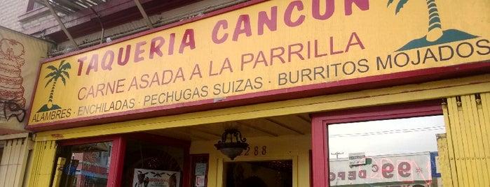 Taqueria Cancún is one of California's Top 20 Burrito Places.