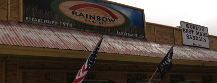 Rainbow Sandals is one of san clemente.