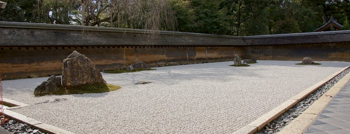 Ryoan-ji Temple is one of Kyoto temples and shrines.