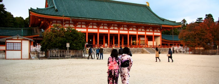 Heian Jingu Shrine is one of Kyoto temples and shrines.