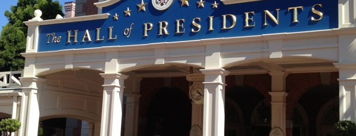The Hall Of Presidents is one of Favorite Places in Florida.