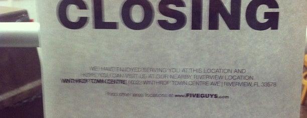 Five Guys is one of Favorite Food.