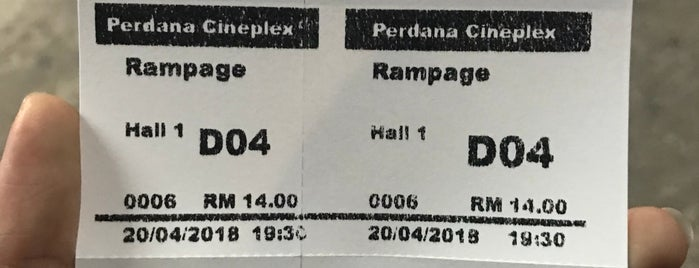 Perdana Cineplex is one of A.