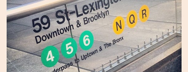 MTA Subway - Lexington Ave/59th St (4/5/6/N/R/W) is one of NYC Subways 4/5/6.