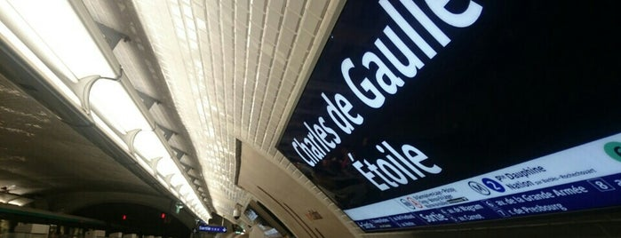 Métro Charles de Gaulle-Étoile [1,2,6] is one of Stations de metro a Paris.