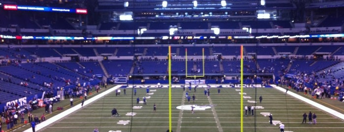 Lucas Oil Stadium is one of My favorites for Stadiums.
