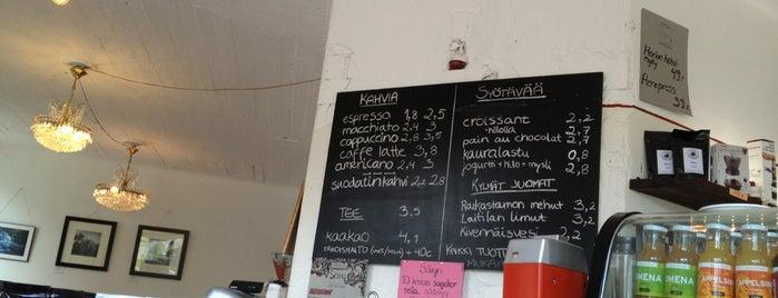 Kahvila Sävy is one of Top 10 cafes in Helsinki..