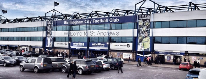 St. Andrew's Stadium is one of Sky Bet Championship Stadiums 2015/16.